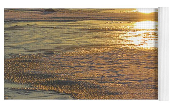 Icy Sunset Yoga Mat by Beth Sawickie