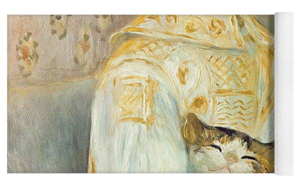 Julie Manet With Cat Yoga Mat