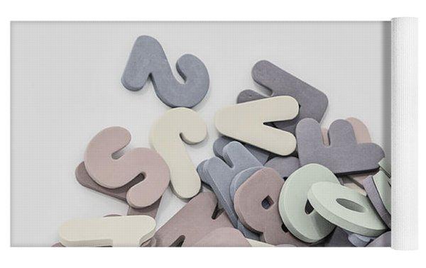 Jumbled Letters Yoga Mat