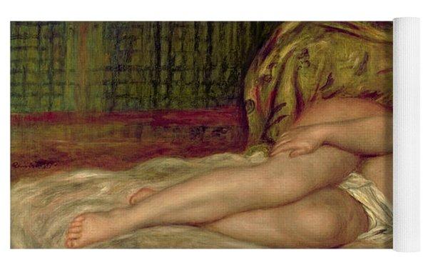 Large Nude Yoga Mat by Pierre Auguste Renoir