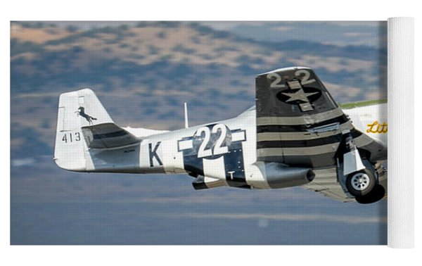 P51 Mustang Little Horse Gear Coming Up Friday At Reno Air Races 5x7 Aspect Signature Edition Yoga Mat by John King