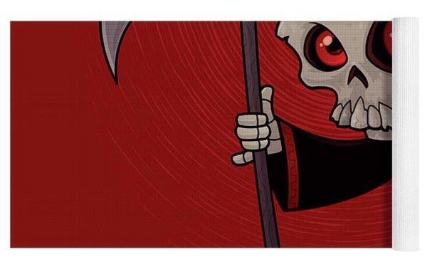 Little Reaper Yoga Mat by John Schwegel