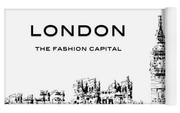 London The Fashion Capital Yoga Mat by ISAW Company