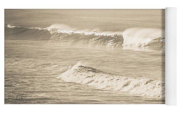 Lonely Winter Waves Yoga Mat by T Brian Jones