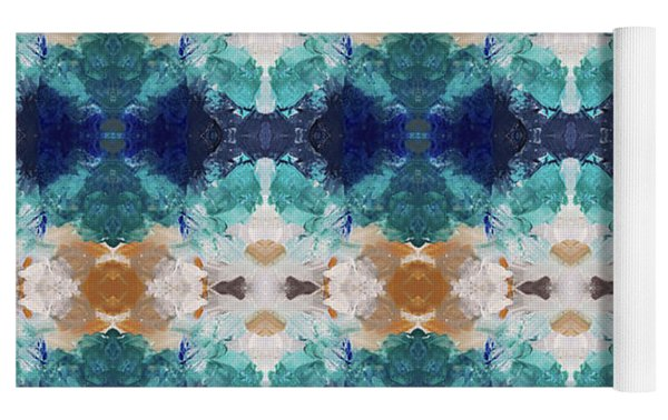 Marrakesh Blues- Art By Linda Woods Yoga Mat by Linda Woods