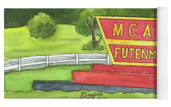 Mcas Futenma Welcome Sign Yoga Mat by Betsy Hackett