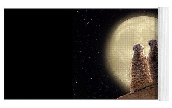 Meerkat Moon Yoga Mat by Nicole Wilde