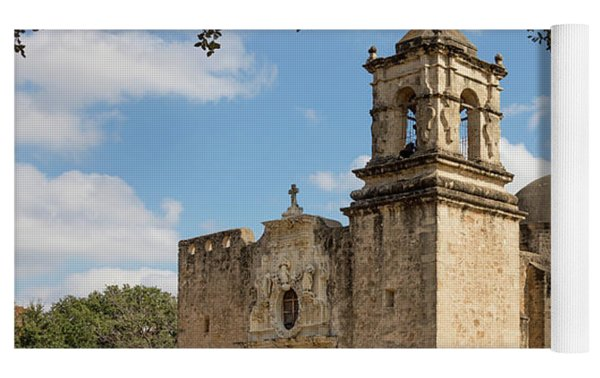 Mission San Jose Yoga Mat by Mary Jo Allen