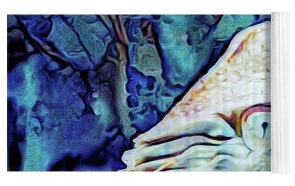 Nautilus Blue Yoga Mat by Susan Maxwell Schmidt