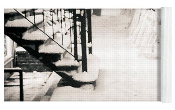 New York City - Snow Yoga Mat by Vivienne Gucwa