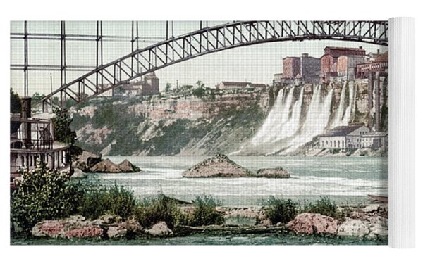 Niagara River, C1900.  Yoga Mat by Granger