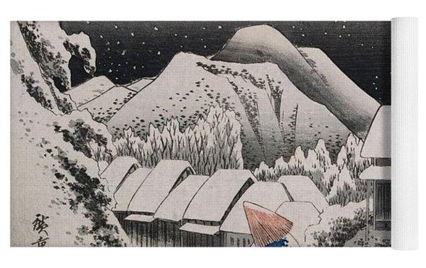 Night Snow Yoga Mat