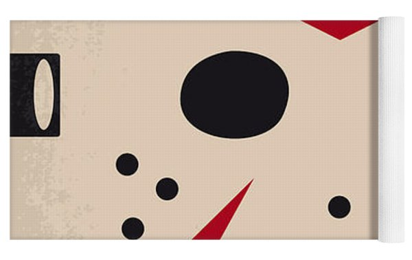 No449 My Friday The 13th Minimal Movie Poster Yoga Mat by Chungkong Art