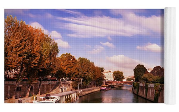 Notre Dame Cathedral And The River Seine - Paris Yoga Mat by Barry O Carroll