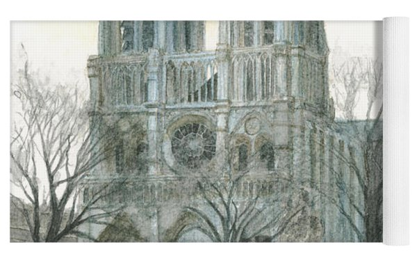 Notre Dame Cathedral In March Yoga Mat by Dominic White