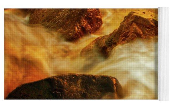 Nuggets Of Gold Yoga Mat by Rick Furmanek