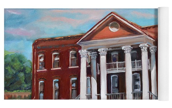 Old Courthouse In Ellijay Ga - Gilmer County Courthouse Yoga Mat by Jan Dappen