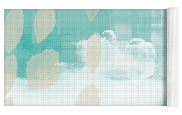 On The Shore- Abstract Painting Yoga Mat by Linda Woods