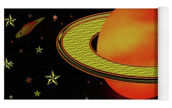 Outer Harvest Moons Yoga Mat by Rockin Docks Deluxephotos