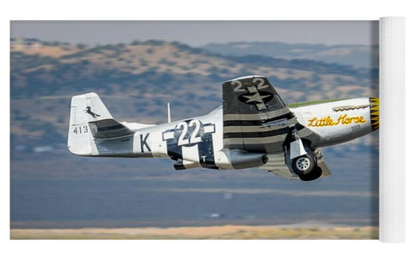 P51 Mustang Little Horse Gear Coming Up Friday At Reno Air Races 16x9 Aspect Signature Edition Yoga Mat by John King
