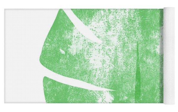 Palm Leaf- Art By Linda Woods Yoga Mat by Linda Woods