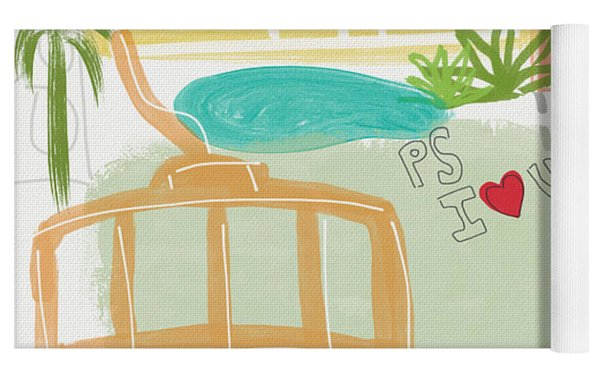 Palm Springs Cityscape- Art By Linda Woods Yoga Mat by Linda Woods