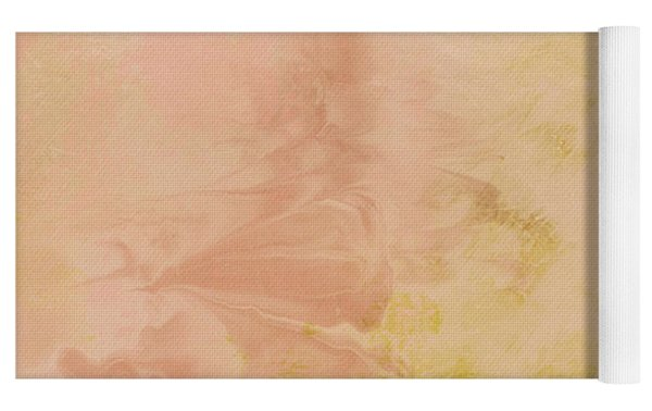 Peach Harvest- Abstract Art By Linda Woods. Yoga Mat by Linda Woods