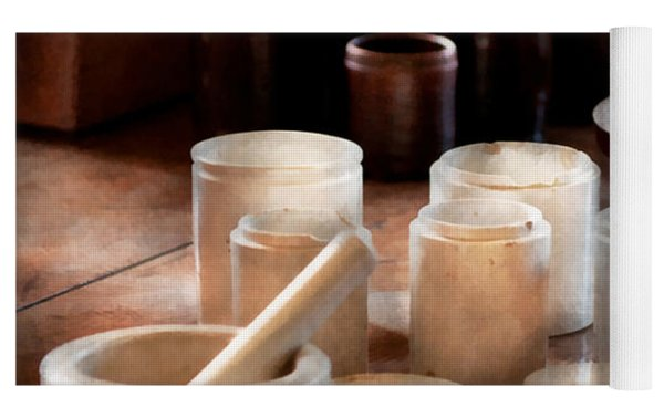 Pharmacist - Pestle And Cups Yoga Mat
