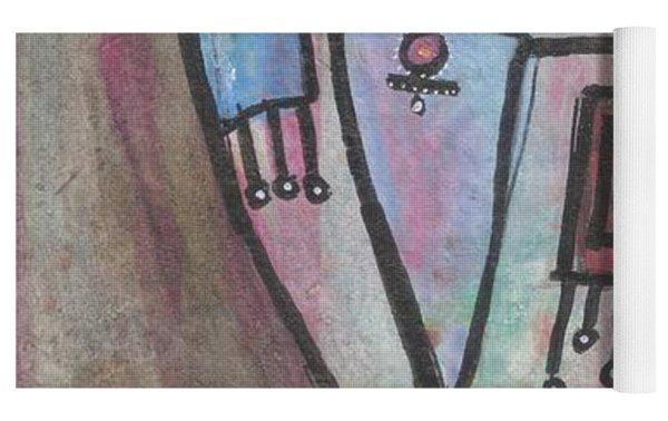 Picasso Inspired Yoga Mat by Prerna Poojara