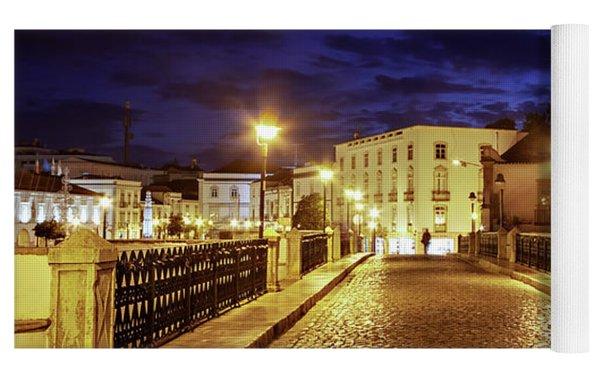 Ponte Romana At Blue Hour / Tavira, Portugal Yoga Mat by Barry O Carroll