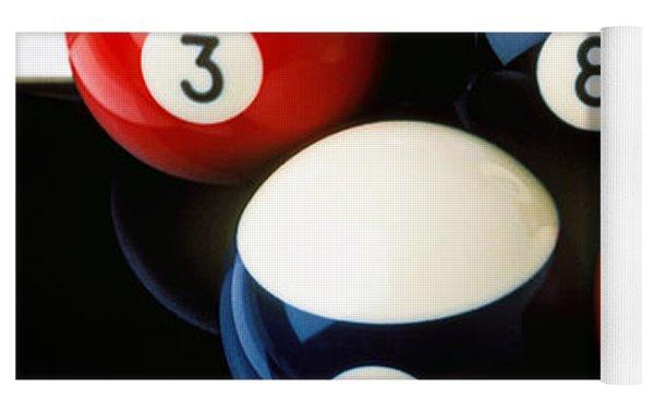 Pool Balls On Tiles Yoga Mat