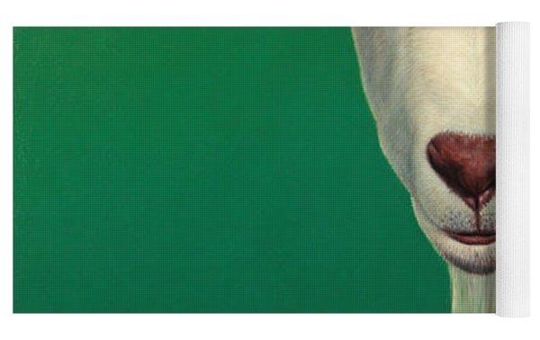 Portrait Of A Goat Yoga Mat