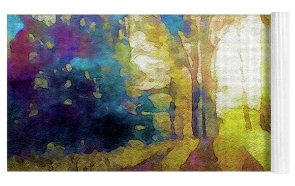 Prismatic Forest Yoga Mat by Susan Maxwell Schmidt