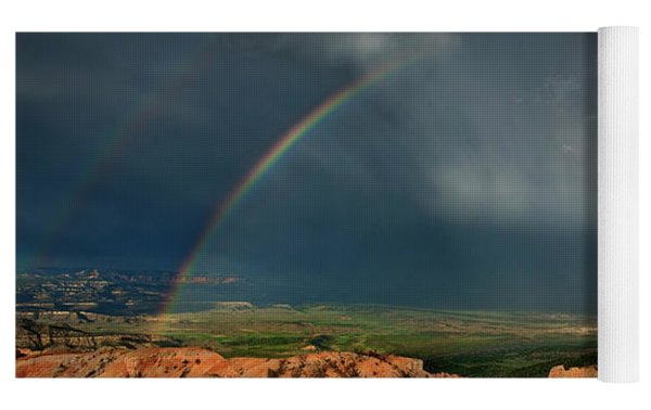 Rainbow Over Hoodoos Bryce Canyon National Park Utah Yoga Mat by Dave Welling