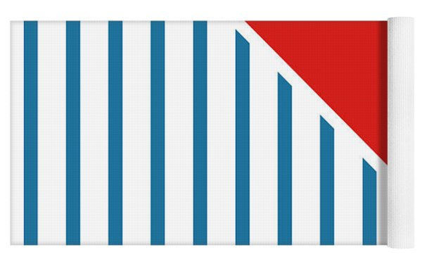 Red White And Blue Triangles 2 Yoga Mat by Linda Woods