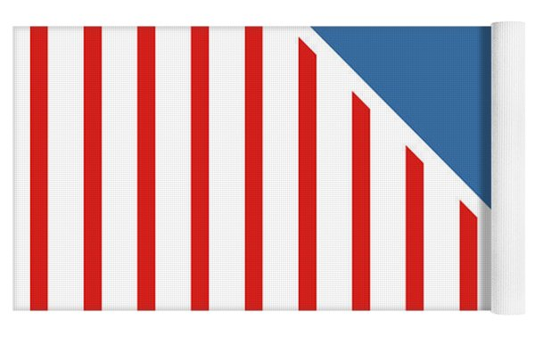 Red White And Blue Triangles Yoga Mat by Linda Woods