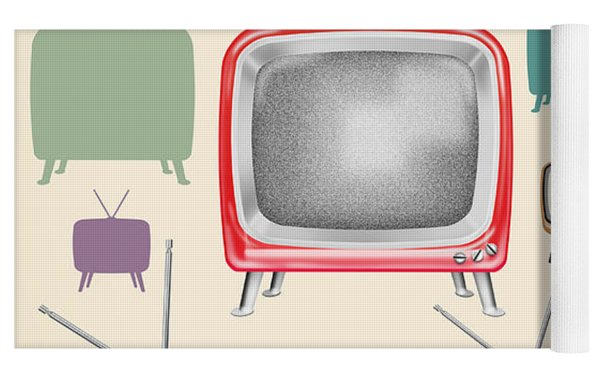 retro TV pattern  Yoga Mat