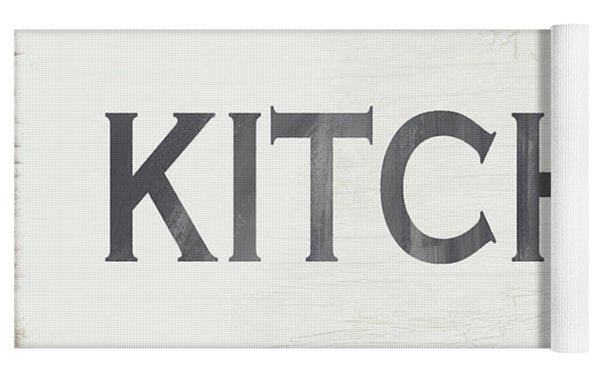 Rustic Kitchen Sign- Art By Linda Woods Yoga Mat