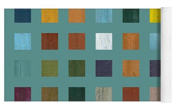 Rustic Wooden Abstract Vl Yoga Mat