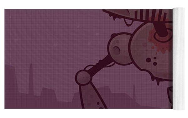 Rusty Zombie Robot Yoga Mat