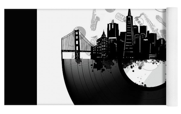 San Francisco Skyline Vinyl Yoga Mat