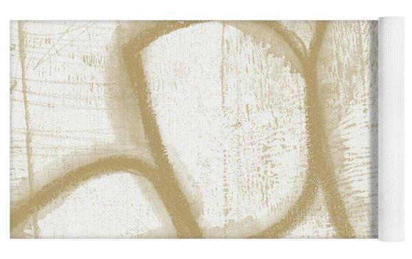 Sand And Stone 1- Contemporary Abstract Art By Linda Woods Yoga Mat by Linda Woods