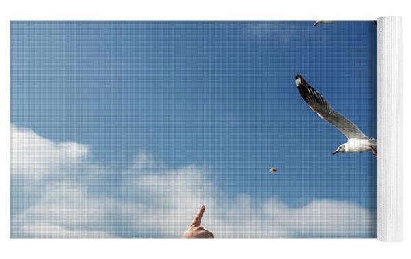 Seagull Flying Yoga Mat by Pradeep Raja PRINTS