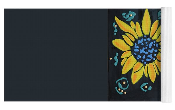Son Flower Yoga Mat by Deborah Boyd