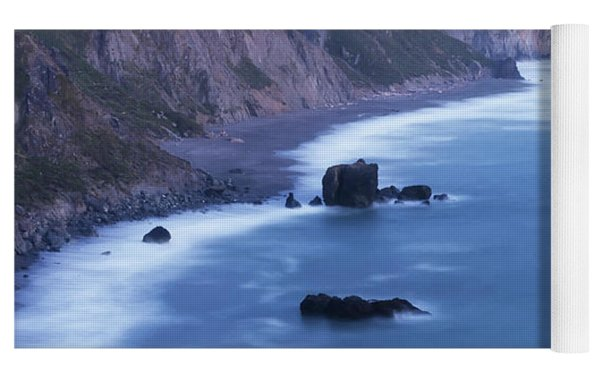 Sonoma Coastline After Dark Yoga Mat by Jim Thompson