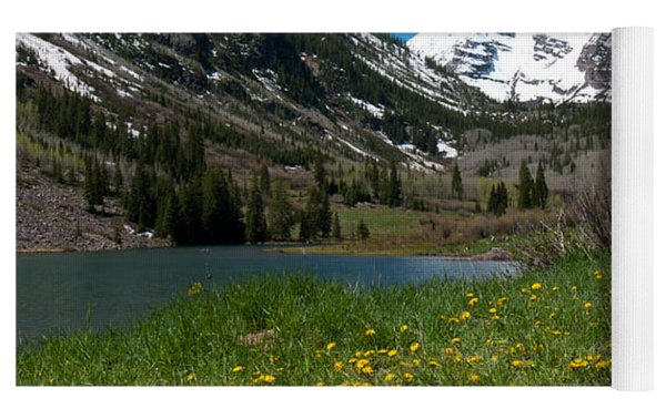 Spring At The Maroon Bells Yoga Mat by Cascade Colors