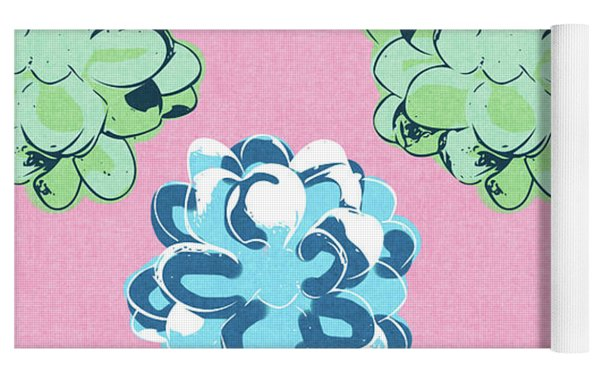 Spring Succulents- Art By Linda Woods Yoga Mat by Linda Woods