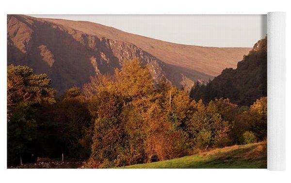 Morning At Glendalough, County Wicklow - Ireland Yoga Mat by Barry O Carroll