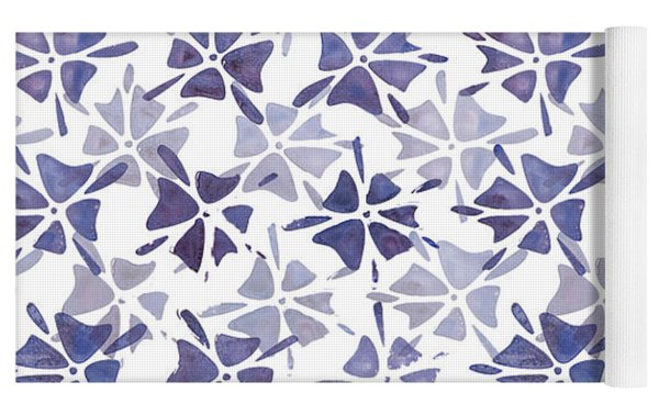 Stencilled Floral Yoga Mat by Jocelyn Friis
