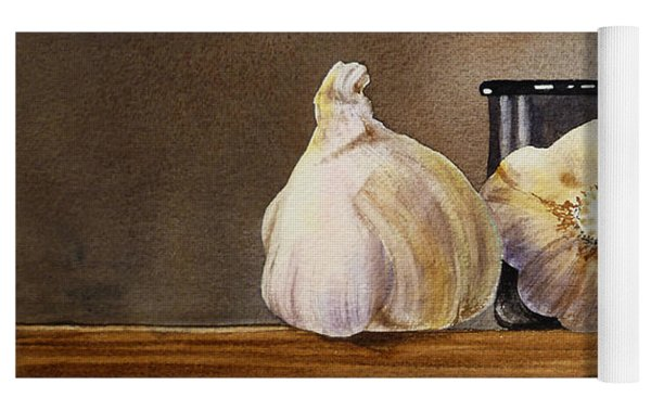 Still Life With Garlic And Olive Yoga Mat